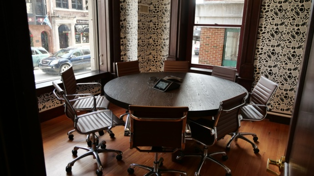 meeting room at align.Space in West Chester PA